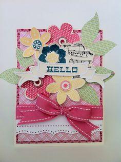 Courtney Lane Designs: Flower hello card using the Artiste Cricut cartridge.