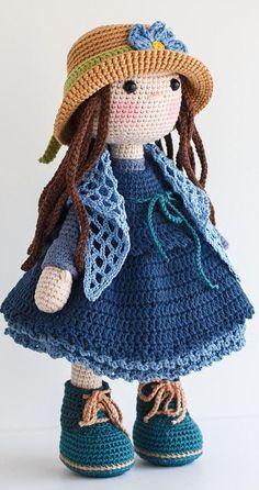 Most popular and beautiful Amigurumi Crochet Pattern Ideas Part amigurumi patterns free; Crochet Bunny Pattern, Crochet Headband Pattern, Crochet Bear, Crochet Patterns Amigurumi, Amigurumi Doll, Crochet Cape, Crochet Shirt, Knitted Cat, Knitted Dolls