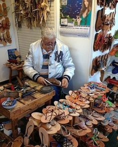 Slip into Italian Kicks : Antonio Viva, shoemaker, whose shop, L'Arte del Sandalo Caprese, is located on the main street in Anacapri.