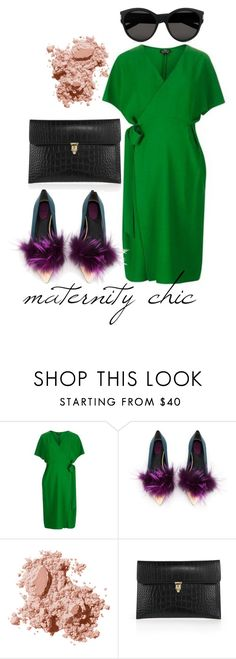 """""""Maternity Chic"""" by johanavigu ❤ liked on Polyvore featuring Topshop, Fendi, Bobbi Brown Cosmetics, Alexander McQueen and Yves Saint Laurent"""