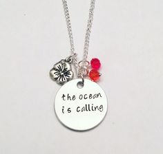 The Ocean is Calling Moana Maui Disney Inspired Stamped Charm Necklace