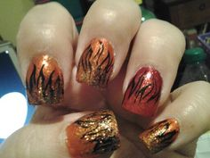 Woman on Fire Nails by NewEnglandNails