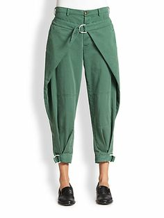 Band of Outsiders Jodhpur Pants and other apparel, accessories and trends. Browse and shop 2 related looks. Fashion Fail, Denim Fashion, Look Fashion, Fashion Pants, Fashion Dresses, Womens Fashion, Fashion Design, Jodhpur, Baggy Pants