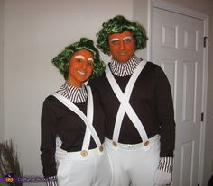 Oompa Loompas halloween costumes (I remember being in the 7th grade and wanting to make this costume so bad! Me & my friend watched this movie a gazillion times)