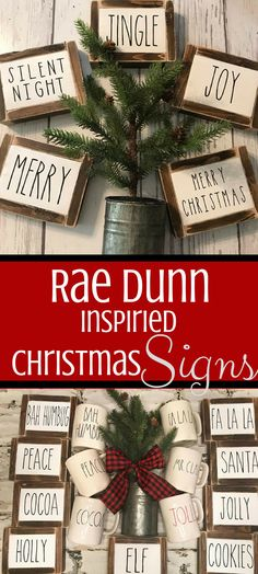 What adorable signs. Perfect for farmhouse decor. Rae dunn inspired signs, framed sign, christmas sign, joy, peace, cocoa, christmas sign, rae dunn inspired christmas signs #afflink #raedunn #christmassigns #christmasdecor