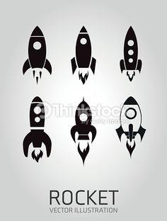 ベクトルアート : Rocket icon - Set Rockets