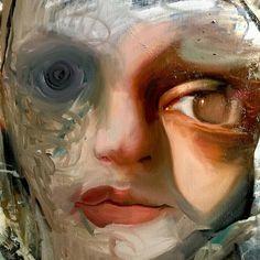 "Caroline Westerhout (@carolineagain) on Instagram: ""The mess of the start up. 🤡👻 #painting #oilpainting contemporaryart #detail #portrait #fineart #art…"""