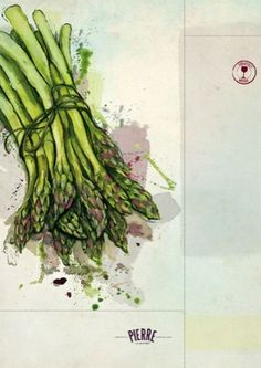 Lovely food illustrations on the Bistro Pierre menu