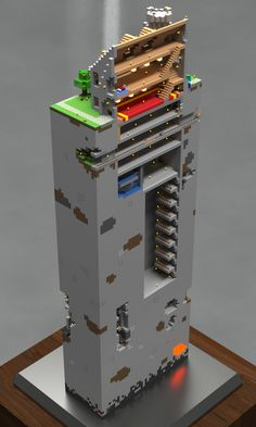 Cool render of a base cutaway.