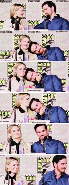 Jennifer Morrison and Colin O'Donoghue at San Diego Comic Con 2016 - 23 July 2016