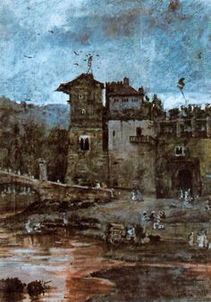Alcazaba de Málaga. Obra de Antonio Muñoz Degrain