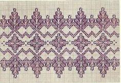 Yugoslavian x-stitch pattern. Swedish Embroidery, Diy Embroidery, Cross Stitch Embroidery, Embroidery Patterns, Cross Stitch Patterns, Swedish Weaving Patterns, Monks Cloth, Weaving Projects, Running Stitch