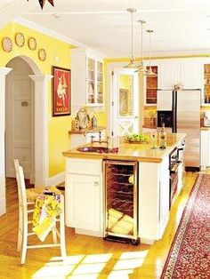 Eye Candy Yellow Kitchens