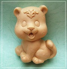 Tiger Silicone Soap mold Handmade 3D mould DIY Carft molds S243
