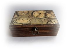 Rustic Watch Box Personalized Watch Box by VintageShabbyRustick