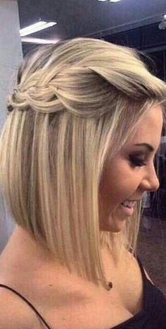 Trenza en cabello corto