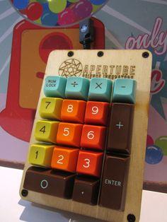 Dolch keys on a custom wood numpad. So cool!