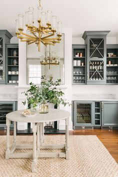 How to use color in a kitchen - go for a muted colored cabinet.  So classy B Berry Interiors