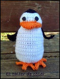 Pingüino de Madagascar Amigurumi - Patrón Gratis en Español aquí: http://eltallerdecoser.blogspot.com.es/2014/12/los-pinguinos-de-madagascar.html