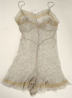Teddy - 1940 - Silk, Cotton - Culture: French - @~ Mlle