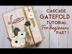 Cascade Gatefold Mini Album for JS Hobbies & Crafts Mini Scrapbook Albums, Scrapbook Cards, Papel Scrapbook, Scrapbooking, Mini Photo Albums, Mini Albums, Fancy Fold Cards, Folded Cards, Tim Holtz Distress Ink