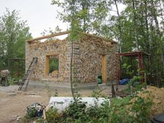 cordwood house plans | The plan is to finish up with cordwood this weekend, weather ...