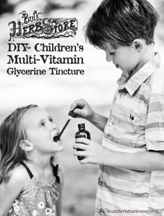 DIY Children's Multi-Vitamin Glycerin Tincture | BulkHerbStore.com | Looking for a great tasting herbal multi-vitamin for your kids. Here's a recipe you'll like.