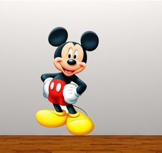 Large Full Colour Mickey Mouse decal wall sticker boys girls bedroom playroom decal mural graphic wall art nursery
