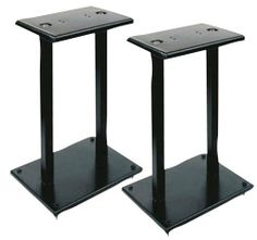 Pyle-Home PSTND13 One Pair of Heavy Duty Steel Double Support Bookshelf and Monitor Speaker Stand by Pyle. $29.13. From the Manufacturer                Use this pair of bookshelf speaker stand to keep your speakers stable and secure. Heavy-duty steel construction looks great, conceals cables, and optimizes the performance of your speaker by minimizing floor distortion. The columns can even be sand-loaded to deaden resonance and increase stability. Adjustable spikes ...