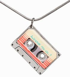 If you loved the Awesome Mix Tape Vol 1 from the Guardians of the Galaxy movie, now you can wear it. This Guardians of the Galaxy Awesome Mix - Vol. 1 Pendant l Cute Necklace, Pendant Necklace, Star Pendant, Pendant Jewelry, Marvel Clothes, Marvel Shoes, The Bling Ring, Cute Jewelry, Geek Outfit