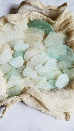 An Organic Touch: 13 DIY Escort Cards from Nature | OneFabDay.com