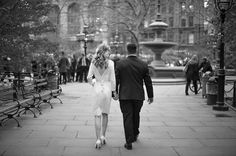 NYC City Hall Park Wedding