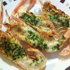 Grilled Scampi with Parsley butter