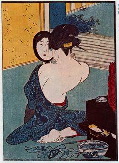 mirror - Utagawa Kuniyoshi