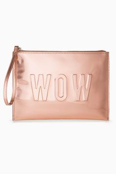 Stella and Dot Rose Gold Mirror Metallic In Charge Pouch