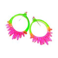 Kate Rohde - Watermelon Hoop Earrings (large) 120 AUD$