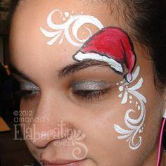 DIY Sassy Santa Hat Face Paint