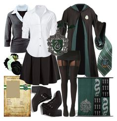 """""""Slytherin"""" by ironraven281 ❤ liked on Polyvore featuring Elope, Keds, Boohoo, INDIE HAIR, Cameo Rose and Steffen Schraut"""
