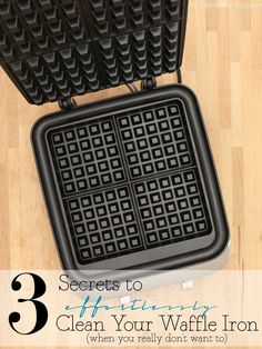 How to clean a waffle iron-its easier than you think. In fact, it's practically effortless! Plus: a few of my favorite waffle recipes for you to try!