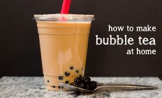Learn how to make a traditional Taiwanese bubble milk tea with tapioca pearls at home with step-by-step instructions.