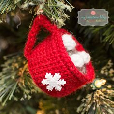 Snowflake Mug Ornament - Crochet Pattern #CrochetProjects