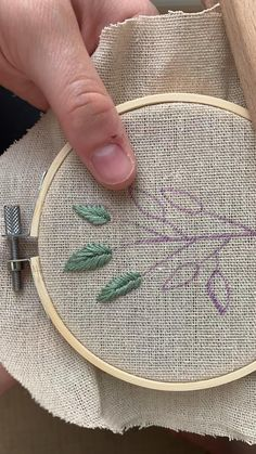 Check out my Etsy shop for custom hoops and embroidery patterns Hand Embroidery Patterns Flowers, Hand Embroidery Videos, Embroidery Stitches Tutorial, Embroidery Techniques, Beginner Embroidery, Creative Embroidery, Simple Embroidery, Embroidery Hoop Art, Etsy Embroidery