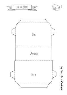 pour fabriquer une valisette en carton plan 1 du site