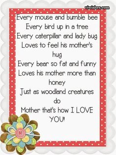 Happy Mothers Day Quotes From Son & Daughter : QUOTATION – Image : As the quote says – Description Heart touching poems on mothers day Lovely poems from daughter and son for their mommy. These are the best lines to dedicate to all mums in the world.