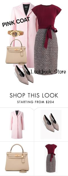 """""""coat"""" by masayuki4499 ❤ liked on Polyvore featuring MSGM, Hermès, J.Crew and Just Cavalli"""