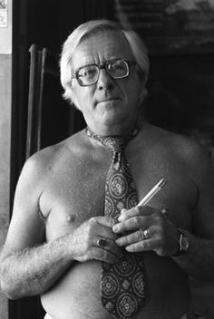 a shirtless Ray Bradbury... because why not?
