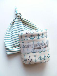 Baby Blanket Anchors Aweigh Little Hip Squeaks by littlehipsqueaks, $44.80