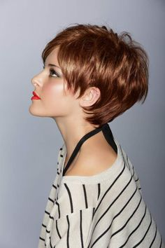 More short hair. Layers for fine hair to add some texture More short hair. Layers for fine hair to a Short Sassy Haircuts, Short Hairstyles For Women, Teenage Hairstyles, Layered Haircuts, Straight Hairstyles, Short Red Hair, Short Hair Cuts, Pixie Cuts, Pixie Bob