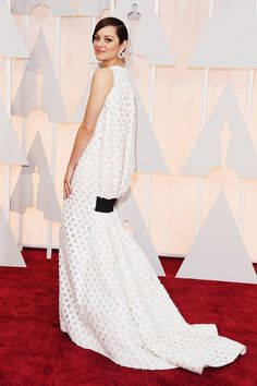Marion Cotillard on the Red Carpet at the 87th Annual Academy Awards, 2015.