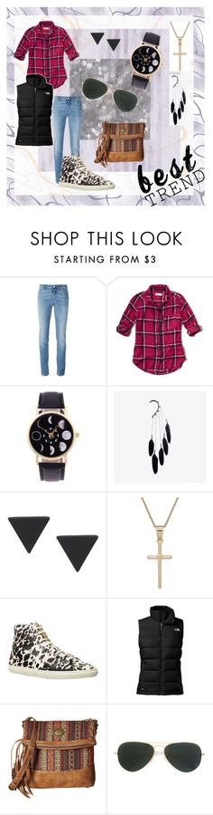 """BestTrendIdea:Outdoor Casual"" by north40designs on Polyvore featuring Givenchy, Hollister Co., Giani Bernini, Burberry, The North Face, American West, Ray-Ban, comfy, casualoutfit and weekendstyle"